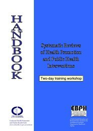 Two-day training workshop - Cochrane Public Health Group - The ...