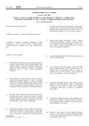 NAŘÍZENÍ KOMISE (ES) č. 1330/2007 ze dne 24. září 2007, kterým ...