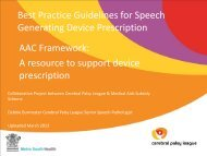 AAC Framework: A resource to support device prescription