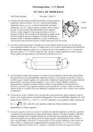 Eletromagnetismo – C. F. Biomol. 10 LISTA DE PROBLEMAS