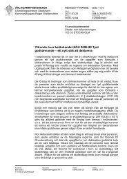 Tyst godkännande sou 2006 89 - Åklagarmyndigheten