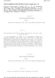 Decreto Legge 78/2010 - Dps