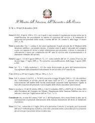 Decreto Ministeriale 99 del 28 dicembre 2010 - Domande di ...