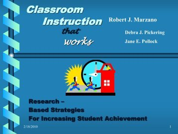 Marzano PowerPoint 2 - Bremen High School District 228