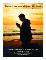 THIRTY THIRD SUNDAY IN ORDINARY TIME November 13, 2011 ...