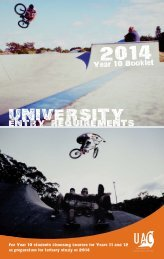 University Entry requirements 2014, Year 10 Booklet - Universities ...
