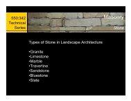 Stone - Landscape Architecture