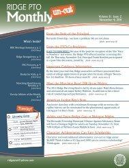 November 2011, Volume 8, Issue 2 - Ridge PTO