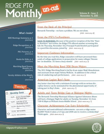 November 2011, Volume 8, Issue 2 - Ridge PTO