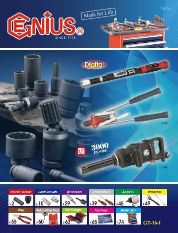 Genius Tools and Sockets - Core Tool Technologies