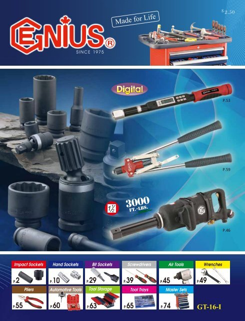 """1//4/"""" Double Square Hand Socket 8-Point - 262508 Genius Tools 1//4/"""" Dr"""
