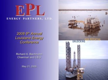 Energy Partners Ltd - Rational Investing