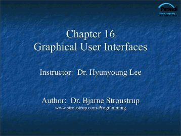 Graphical User Interfaces - TAMU Computer Science Faculty Pages