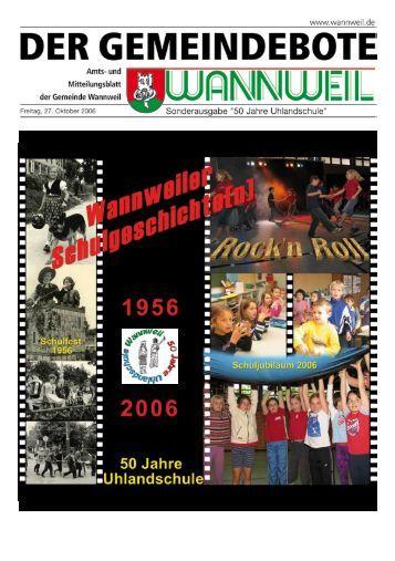 Ausstellung: 50 Jahre Uhlandschule - der Gemeinde Wannweil