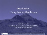 Desalination Using Zeolite Membranes - Water Resources ...