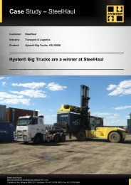 Download full SteelHaul Case Study in PDF - Hyster Company