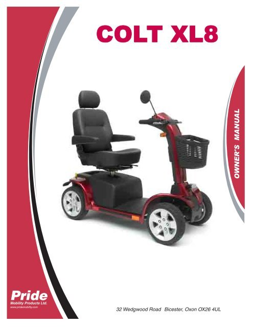 download the pride colt xl8 owners manual  value mobility