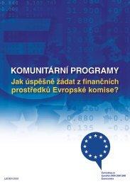 Komunitární programy - Jak úspěšně žádat z ... - Euroskop.cz