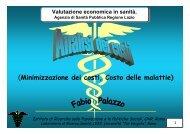 Fabio Palazzo - Agenzia di Sanità Pubblica della Regione Lazio