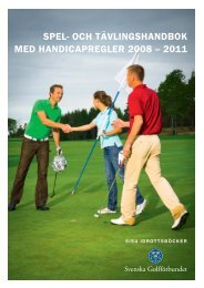 SPEL- OCH TÄVLINGSHANDBOK MED ... - Golf.se