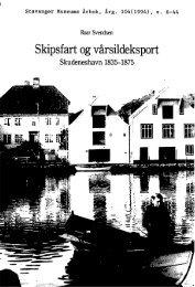 Skipsfart og vårsildeksport. Skudesneshavn 1835-1875 - Museum ...