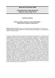 Synthèse intervention en assemblée plénière et ateliers