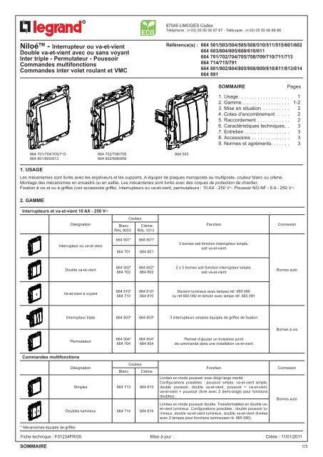 Double Va Interrupteur Double Va Et Vient Square Eurohm Certifie Nf A 6 75 Ht