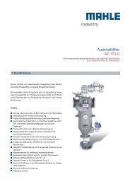 Automatikfilter AF 173 G, Edelstahlguss - MAHLE Industry - Filtration