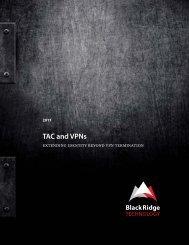 TAC + VPN White Paper - BlackRidge Technology