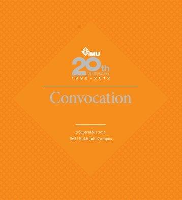 Convocation - International Medical University(IMU)