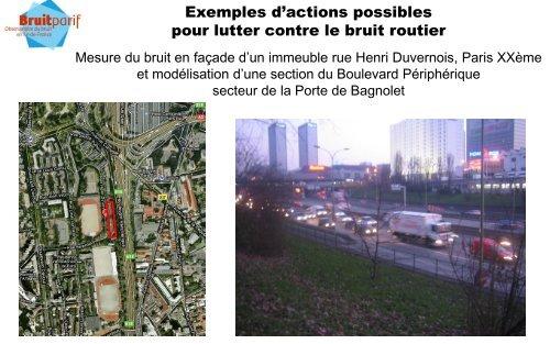 Lutter contre le bruit routier : exemples d'actions possibles ...