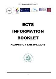 ECTS Booklet 2012-13 - Szkoła Główna Handlowa w Warszawie