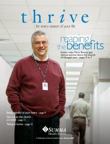 110629-ThriveSpring2008-PressRoom - Summa Health System