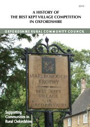 A History of the Best Kept Village Competition - Oxfordshire Rural ...