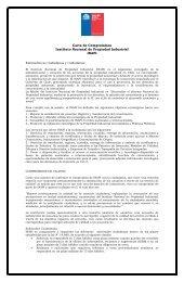 Carta de Compromisos Instituto Nacional de Propiedad ... - Inapi