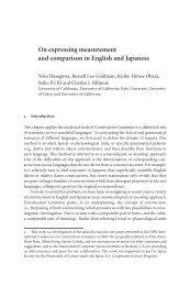 On expressing measurement and comparison in English and ...