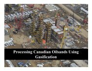 Processing Canadian Oilsands Using Gasification - Zeus ...