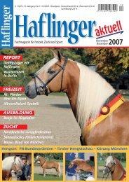 AUSBILDUNG REPORT FREIZEIT ZUCHT