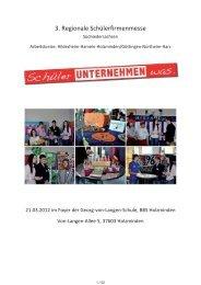3. Regionale Schülerfirmenmesse - BBS-Holzminden