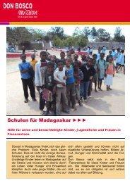 Schulen für Madagaskar - Don Bosco Mission