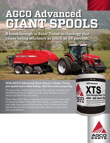 AGCO Advanced GIANT Spools - AGCO Parts