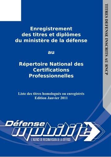 Enregistrement des titres et diplômes du ministère de la ... - Inffolor