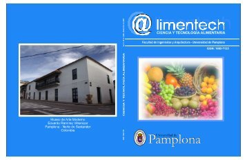ALIMENTECH vol 5#2.cdr - Universidad de Pamplona