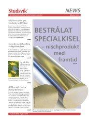 BESTRÅLAT SPECIALKISEL - Investor Relations - Studsvik