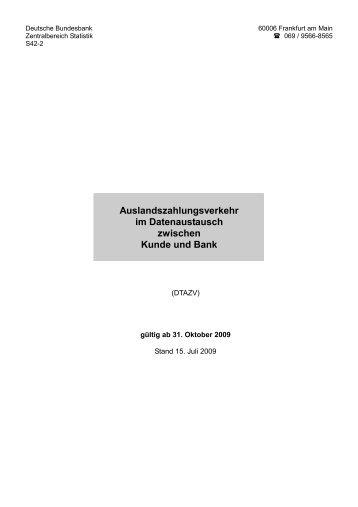 Auslandszahlungsverkehr im Datenaustausch zwischen ... - DKB