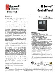 E3 Series Control Panel - Gamewell-FCI