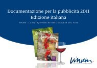 Documentazione per la pubblicità 2011 Edizione italiana - Vinum