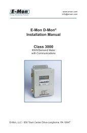 Class 3000 Manual 3_09.indd - E-Mon