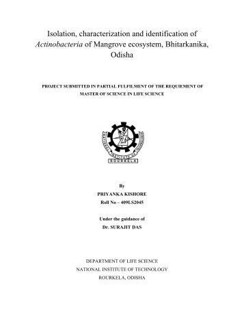 Isolation, characterization and identification of Actinobacteria of ...
