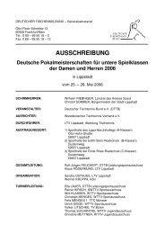 AUSSCHREIBUNG